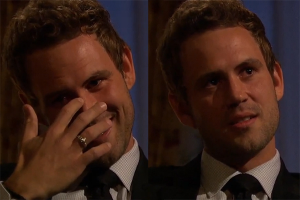 Nick Viall gets emotional.