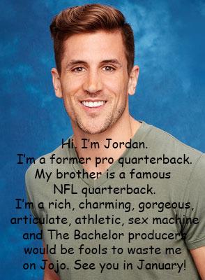 Jordan for next Bachelor