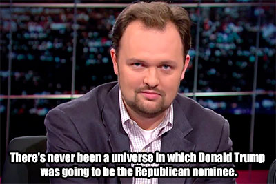 ross_douthat_never_been_a_universe in which donald trump was going to be the republican nominee