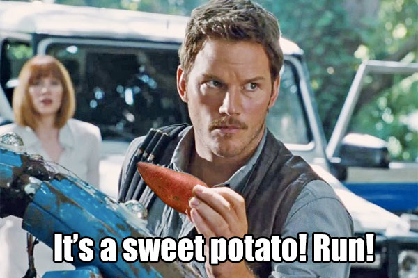 Jurassic Park - It's a sweet potato! Run!