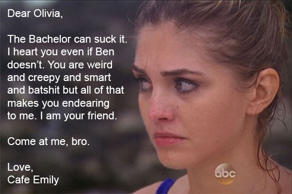 Love letter to Olivia